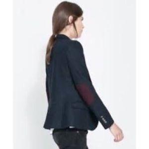 Zara Lambswool blazer with Elbow Patch xs